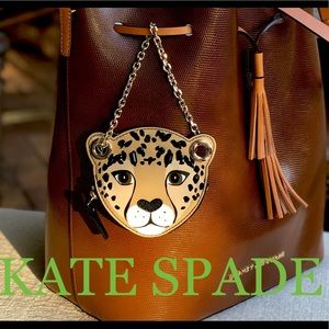 🌲🎁 LATE SPADE leopard coin purse /bag charm